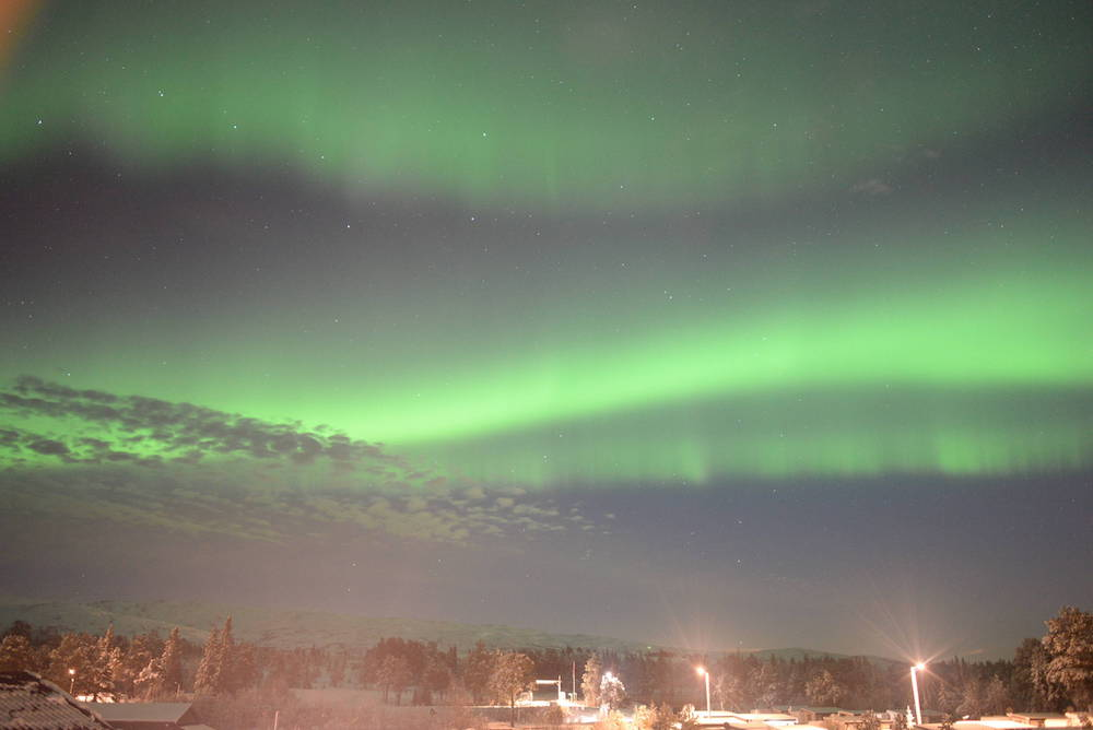 Nordlys over Omnsfjellet